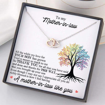 Interlocked Heart Necklace - To My Mother-In-Law - Thank You For All That You Have Said And Done - Gnp19007