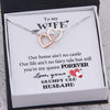 Interlocked Heart Necklace - To My Wife - You Are My Queen Forever - Gnp15017