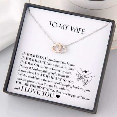 Interlocked Heart Necklace - To My Wife - You Are The Best Thing - Gnp15008