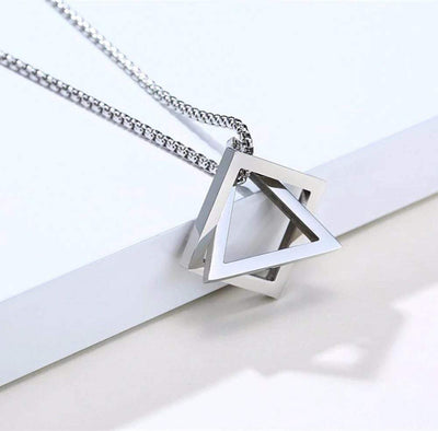 Interlocking Square Triangle Necklace - To My Husband - Never Forget That I Love You - Gnez14001