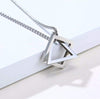 Interlocking Square Triangle Necklace - To My Husband - You Are My Infinity - Gnez14002