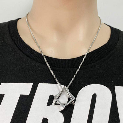 Interlocking Square Triangle Necklace - To My Man - You Are My Infinity - Gnez26002