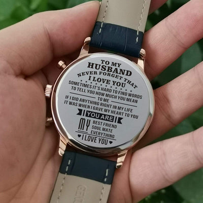 K4404 - To My Husband, You Are My Everything - Luxury Watch