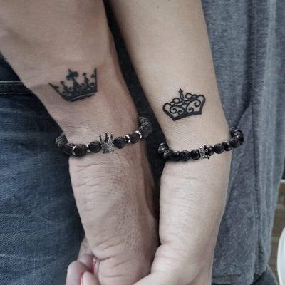 King & Queen Couple Bracelets - To My Wife - You Are My Beautiful Queen Forever - Gbae15001
