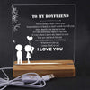 Led Light - To My Boyfriend - Never Forget That I Love You - Sjg12004