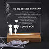 Led Light - To My Future Husband - Never Forget That I Love You - Sjg24003