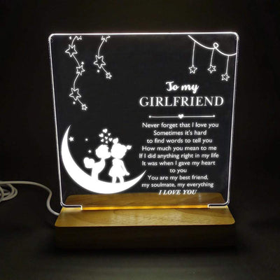 Led Light - To My Girlfriend - Never Forget That I Love You - Sjg13007