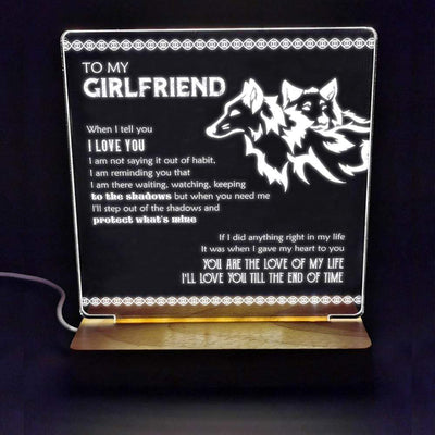 Led Light - To My Girlfriend - You Are The Love Of My Life - Sjg13006