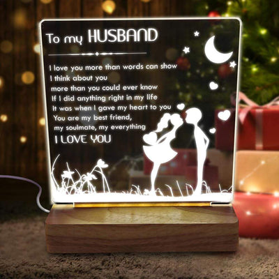 Led Light - To My Husband - I Love You More Than Words Can Show - Sjg14003