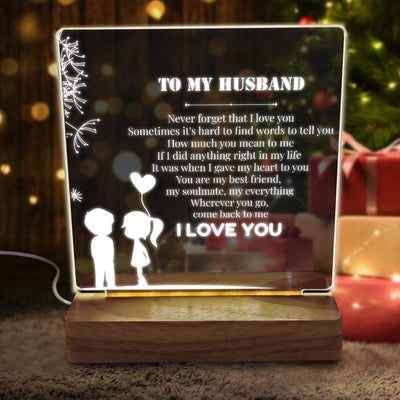 Led Light - To My Husband - Never Forget That I Love You - Sjg14004