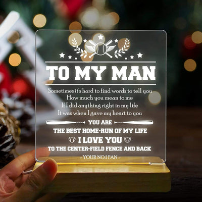 Led Light - To My Man - I Will To the Center-field Fence and Back  - Sjg26012