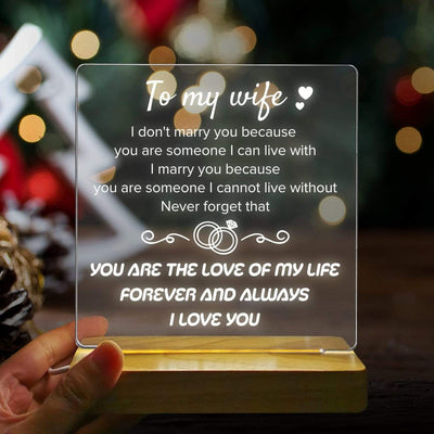 Led Light - To My Wife - You Are The Love Of My Life - Sjg15010