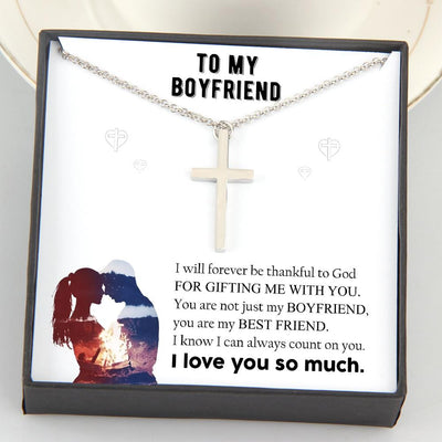 Luxury Cross Necklace - To My Boyfriend - I Love You So Much - Gno12002