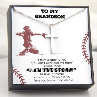 Luxury Cross Necklace - To My Grandson - Believe In Yourself As Much As I Believe In You - Gno22013