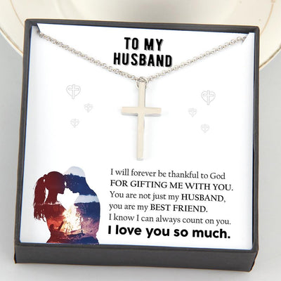 Luxury Cross Necklace - To My Husband - I Love You So Much - Gno14003