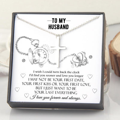 Luxury Cross Necklace - To My Husband - I Wish I Could Turn Back The Clock - Gno14007