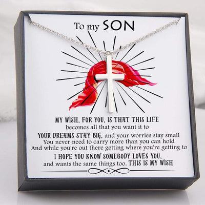 Luxury Cross Necklace - To My Son - My Wish For You - Gno16009
