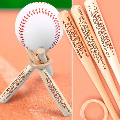 Mini Wood Baseball Bats - To My Girlfriend - If I Could Give You One Thing In My Life - Gau13001