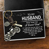 Motorcycle Keychain - To My Husband - Never Forget That I Love You - Gkx14004