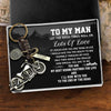 Motorcycle Keychain - To My Man - Let The Good Times Roll On - Gkx26010