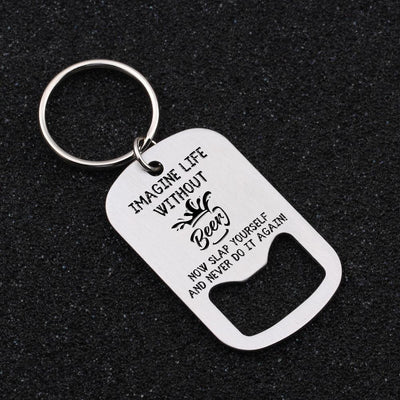 Opener Keychain - Imagine Life Without Beer - Gkl26002