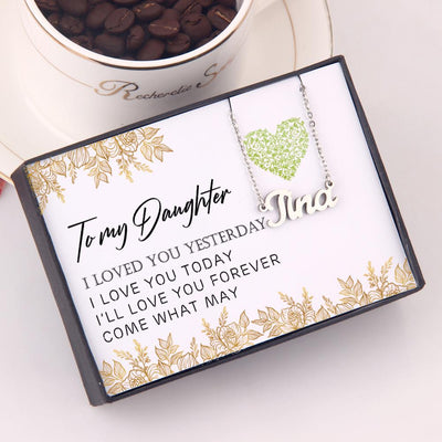 Personalized Necklace - To My Daughter, I'll Love You Forever - Glm17002