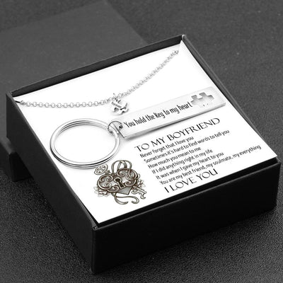 Puzzle Keychain And Necklace Set - To My Boyfriend - You Hold The Key To My Heart - Gnq12003