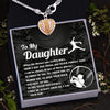 Softball Heart Necklace - To My Daughter - From Dad - Behind You To Have Your Back - Gnex17001
