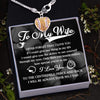 Softball Heart Necklace - To My Wife - If I Could Give You One Thing In Life - Gnex15001