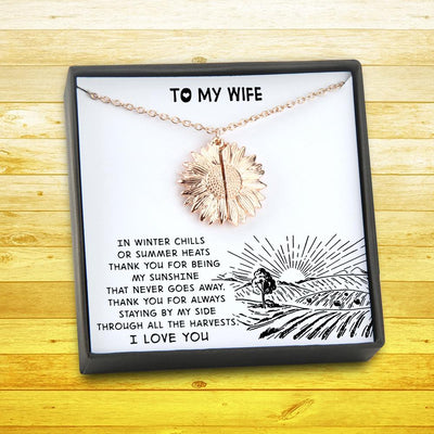 Sunflower Necklace - From Farmer - To My Wife - You Are My Sunshine - Gns15003