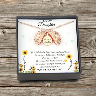 Sunflower Necklace - To My Daughter - You Are My Sunshine - You Are Always Loved - Gns17003