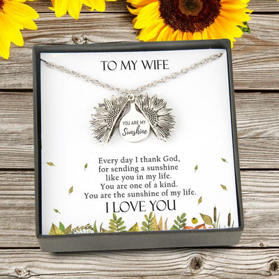 Sunflower Necklace - To My Wife - You Are The Sunshine Of My Life - Gns15001