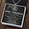 Viking Valknut & Dragon Necklace - My Viking - I Love You To Valhalla And Back - Gnds26001