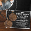 Vintage Moon Couple Necklaces  - My Shield Maiden - I Love You To Valhalla And Back - Gnek13005