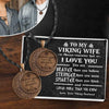Vintage Moon Couple Necklaces  - My Viking Wife - I Love You - Gnek15005
