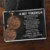 Vintage Moon Couple Necklaces - My Viking - You Are My Best Viking, My Soulmate, My Everything - Gnek26001