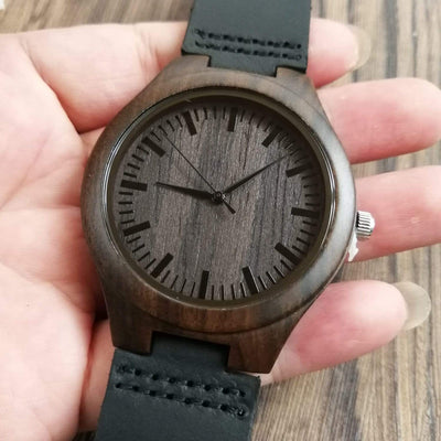 W1302 - To Dad - I Will Never Outgrow - Wooden Watch