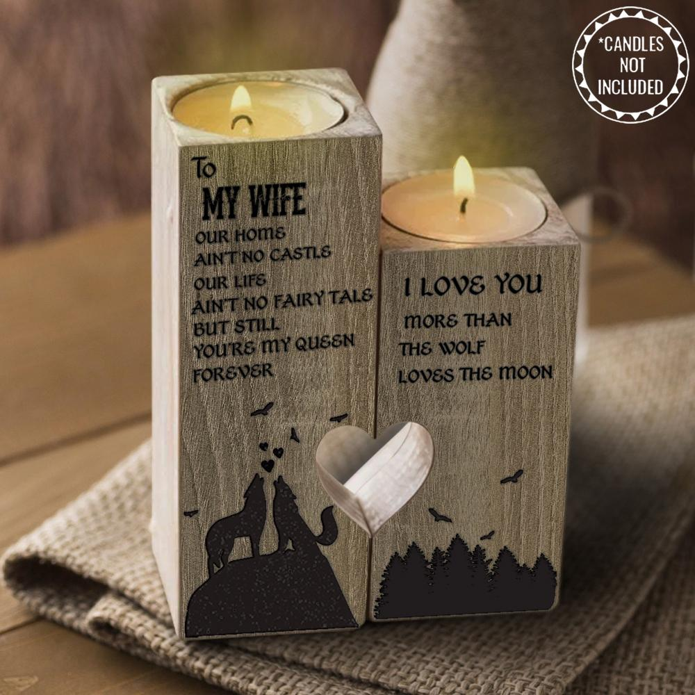 Delisouls Heart-Shaped Hollow Candle Holder Gift for Birthday Anniversary Christmas Valentine/'s Day To My Girl I Love You Candlestick with Candle