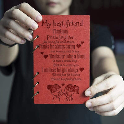 Wooden Notebook - To My Best Friend - We Are Best Friend Forever - Gdb33001