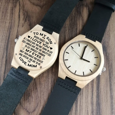 X1804 - To My Son - Never Forget That - Wooden Watch