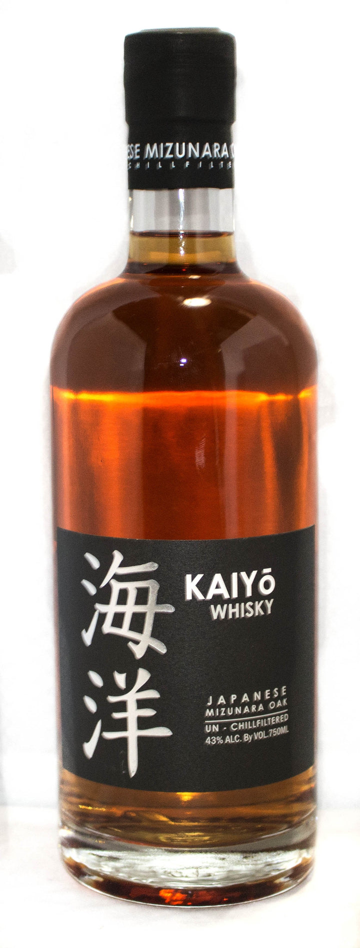 Kaiyo Whisky, Japanese Mizunara Oak. 43% ABV 750 ML