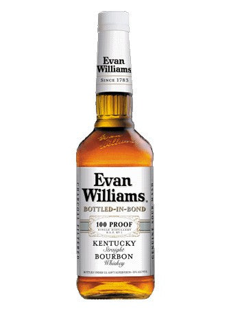 Evan Williams Bottled in Bond Kentucky Straight Bourbon 50% ABV, 750 ML