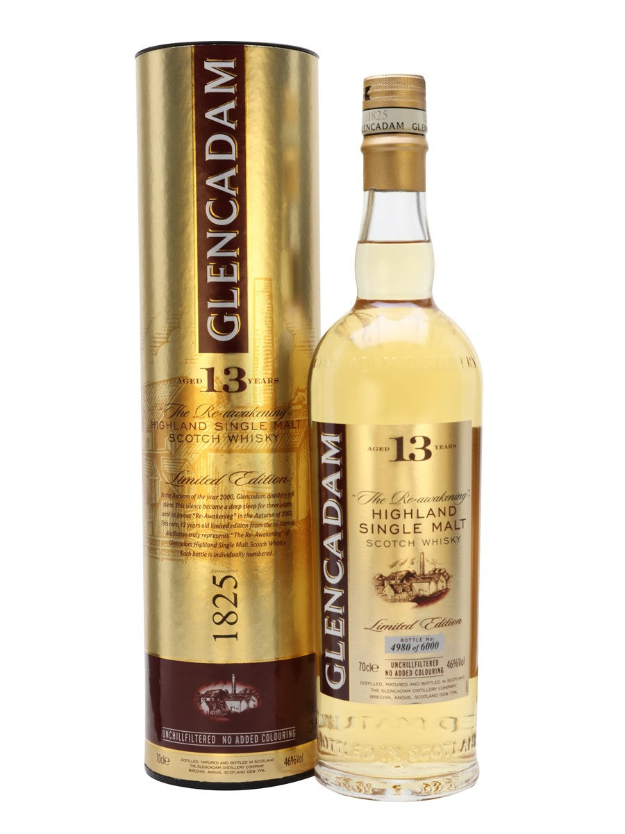 "Glencadam ""The Re-Awakening"" 13 Yr Highland Single Malt Scotch Whisky 750 ML 46% ABV"