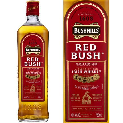 Bushmills Red Bush Irish Whiskey 40% ABV 750ML
