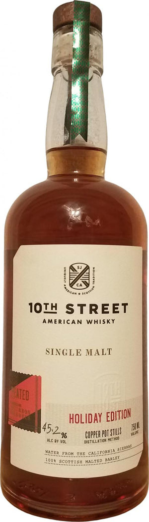 10th Street Distillery American Single Malt Whisky Peated Holiday Edition 750ML