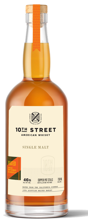 10th Street Distillery American Single Malt Whisky Peated 750ML