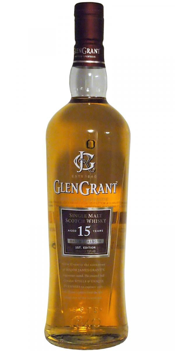 NV Glen Grant Rothes Speyside Single Malt Scotch Whisky, Batch Strenghth, Aged 15 Years, 50%ABV 750 ML
