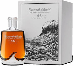 NV Bunnahabhain Islay Single Malt Scotch Whiskey. 46 Year Eich Bhana 84.2 Proof 750ML