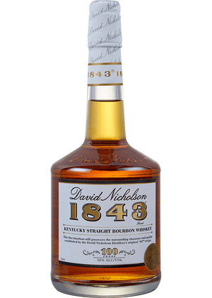 David Nicholson 1843 Kentucky Straight Bourbon Whiskey 100 Proof, 750ML