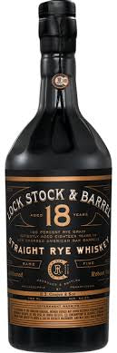 Lock Stock and Barrel Straight Rye Whiskey Aged 18 Years 750 ML
